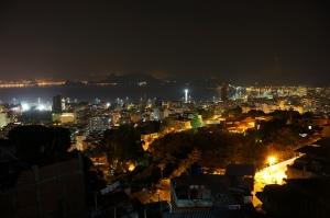 Rio noaptea vedere din favela tavares bastos